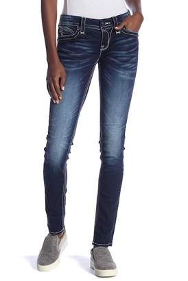 Rock Revival Topstitch Skinny Jeans