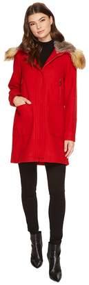 Vince Camuto Faux Fur Trim Wool L8371 Women's Coat