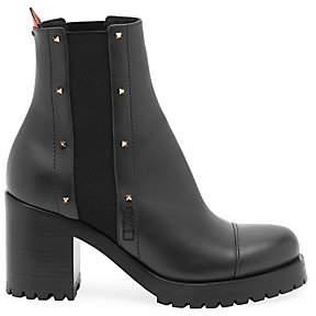 Valentino Women's Rouge Bond Leather Combat Boots