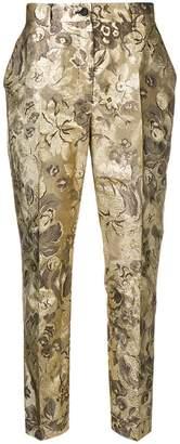 Dolce & Gabbana floral jacquard trousers