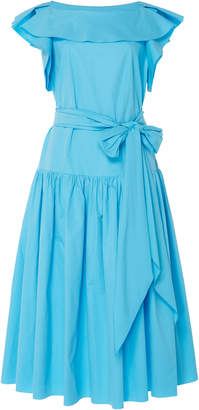 DELPOZO Cape-Sleeve Midi Dress