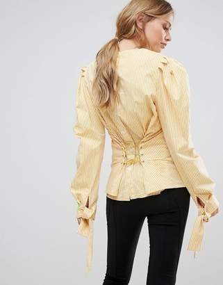 Style Mafia Corset Detail Woven Top $198 thestylecure.com