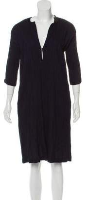 Zero Maria Cornejo Knee-Length Three-Quarter Sleeve Dress