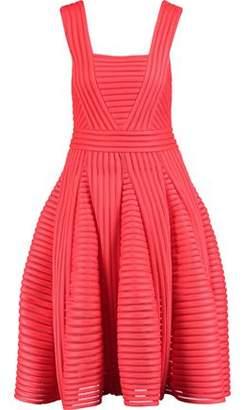 Maje Rodez Flared Ribbed Neoprene Dress