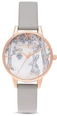 Olivia Burton Snow Globe Rose Gold-Tone Watch, 30mm