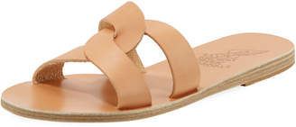 Ancient Greek Sandals Vachetta Interlocking Flat Slide Sandals