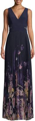 Xscape Evenings Pleated Sleeveless Gown