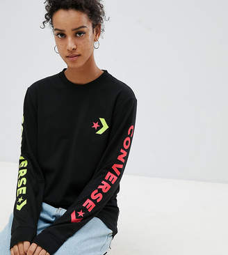 Converse Exclusive To ASOS Long Sleeve T-Shirt With Arm Branding