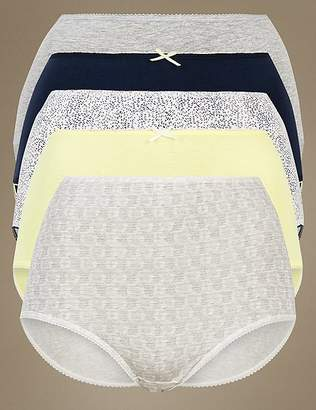 Marks and Spencer 5 Pack Cotton Rich Full Briefs
