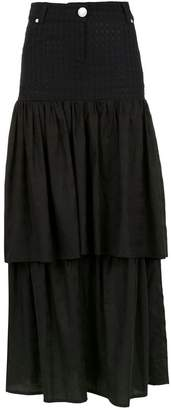 Andrea Bogosian long layered skirt