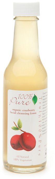 100% Pure Facial Cleansing Foam, Organic Cranberry 5.2 oz