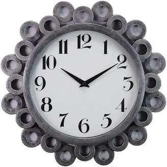 """Generic Kiera Grace Bubble Profile 12"""" Wall Clock with Antique Silver Finish"""