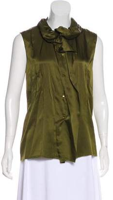 Lanvin Sleeveless Silk Blouse