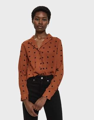Farrow Blythe Polka Dot Shirt in Rust