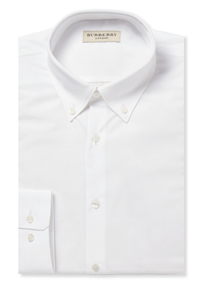 Burberry London White Cotton Shirt