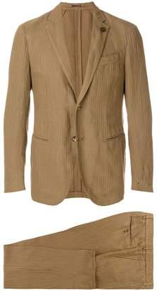 Lardini striped single breasted suit