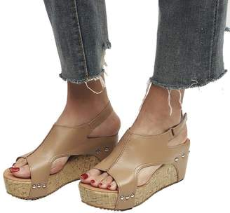 fe1f0eb4a White High Wedge Sandals For Women - ShopStyle Canada