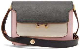 Marni Trunk Mini Saffiano Leather Cross Body Bag - Womens - Pink Multi
