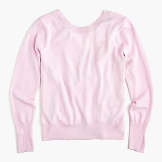 J.Crew Wrapped back pullover in merino wool