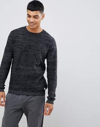 Jack and Jones Originals knitted sweater with melange detail in 100% cotton