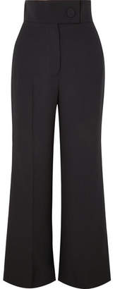 Sara Battaglia Crepe Flared Pants - Black