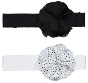 George Monochrome Floral Headbands 2 Pack