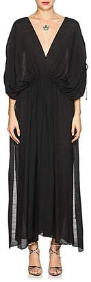 Juan Carlos Obando Women's Cotton-Blend Gauze Caftan - Black