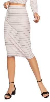 BCBGeneration Pinstripe Pencil Skirt