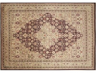 Astoria Grand One-of-a-Kind Sheffield Hand Knotted Wool Aubergine Area Rug Astoria Grand