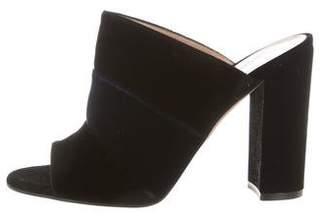 Gianvito Rossi Velvet Slide Sandals