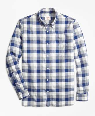 Brooks Brothers Exploded Gingham Brushed Cotton Flannel Sport Short