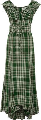 Rosie Assoulin Sleeveless Plaid Dress