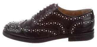 Church's Studded Leather Oxfords