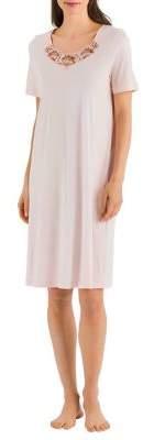 Hanro Jana Short-Sleeve Nightgown
