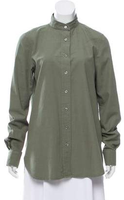 Frame Oversize Button-Up Top