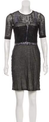 Just Cavalli Short Sleeve Mini Dress