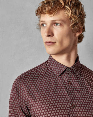Ted Baker CAMDENT Polka dot print cotton shirt