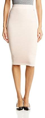 Lipsy Women's Knitted Co-Ord Body Con Striped Skirt