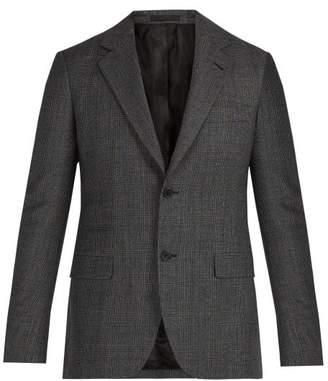 Stella McCartney Checked Single Breasted Wool Blazer - Mens - Grey
