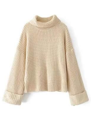 Shein Turtleneck Waffle Knit Sweater