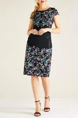 Yumi Short-Sleeve Iris Dress
