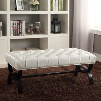 Latitude Run Alcantara Upholstered Bench
