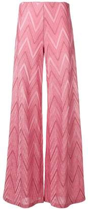 M Missoni pink flared trousers