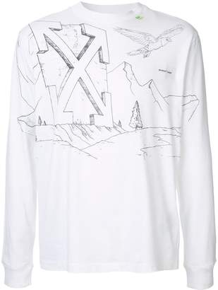 Off-White Diagonal Eagle print T-shirt