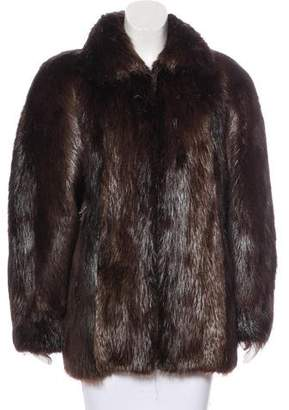 Alfred Sung Collar Fur Jacket