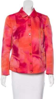 Akris Punto Tie-Dye Button-Up Jacket