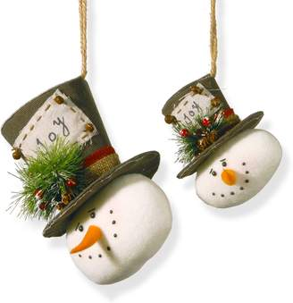 National Tree Company Snowman Christmas Ornament 2-piece Set