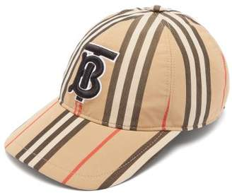 Burberry Icon Stripe Cotton Baseball Cap - Womens - Beige Print