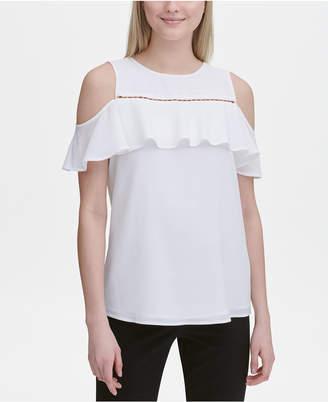 6ea076f356c467 Calvin Klein White Cold Shoulder Women's Tops - ShopStyle