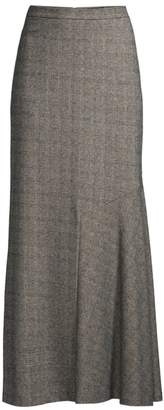 Max Mara Oceania Maxi Check Skirt